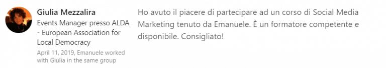 Opinioni Emanuele Chiericato