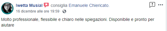 Emanuele Chiericato - Recensioni Iwetta