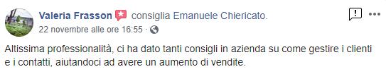 Emanuele Chiericato - Recensioni Valeria