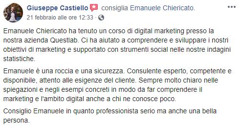Emanuele Chiericato Opinioni